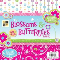 Die Cuts with a View ペーパースタック Blossoms & Butterflies (48枚入)