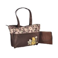 Winnie the Pooh Friendly Flowers Large Diaper Bag - brown, one size by Disney