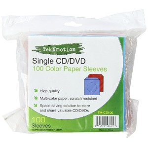 100 Single Disc Color Paper Sleeves (輸入版)