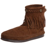 [ミネトンカ] MINNETONKA ブーツ HI TOP BACK ZIP BOOT 293 DUSTY BROWN (DUSTY BROWN/US8)