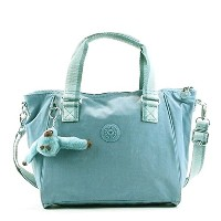 キプリング バッグ ハンドバッグ KIPLING AMIEL K15371 MEDIUM HANDBAG WITH REMOVABLE SHOULDERSTRAP 50W PASTEL BLUE C...