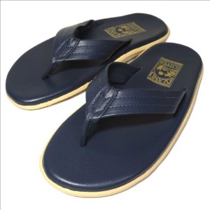(アイランドスリッパ) ISLAND SLIPPER PT202/LEATHER SANDAL[NAVY]8