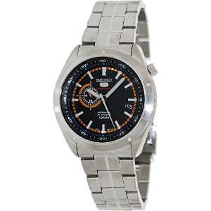 [セイコー]Seiko 腕時計 5 Sports Black Dial Stainless Steel Automatic SSA067 メンズ [並行輸入品]