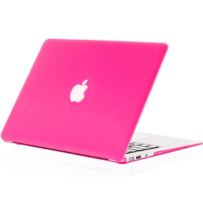 "Kuzy - AIR 13-inch Neon Pink ゴム引きハードケース Case Cover for Apple MacBook Air 13.3"" (Models: A1369 and..."