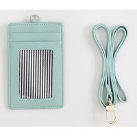 fromB【社員証 ケース】macaron reather card holder (Sky Blue)