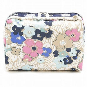 LeSportsac レスポートサック ポーチ 7121 EXTRA LARGE RECTANGULAR COSMETIC D833 Ocean Blooms [並行輸入商品]