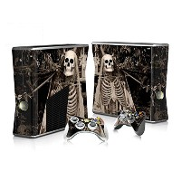 XBOX 360 Slim Skin Design Foils Faceplate Set - Skeleton Design
