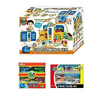 [ICONIX]The Little Bus Tayo School Play Set+Mini Bus 4ea (Rogi + Gani + Rani + Citu) + Mini Bus's...