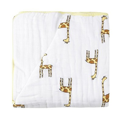 エイデンアンドアネイ/Aden+Anais DREAM BLANKET(JUNGLE JAM GIRAFFE+WHITE) 並行輸入品