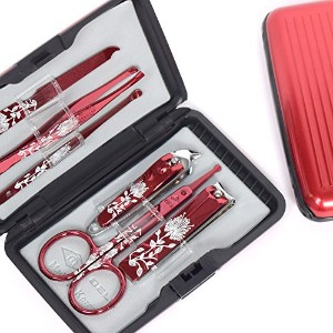BELL Manicure Sets BM-800D ポータブル爪の管理セット 爪切りセット 高品質のネイルケアセット花モチーフのイラストデザイン Portable Nail Clippers...