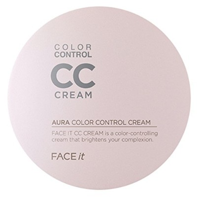 ザフェイスショップ The Face Shop Face It Aura Color Control CC Cream 20ml (01 Light Beige)