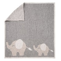 Barefoot Dreams Cozychic Follow Me Blanket [ #661 ] (カラー:Dove gray-Stone-Pink) [並行輸入品]