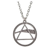 Pink Floyd Necklace Pendant Dark Side of the Moon Prism 公式 Alchemy シルバー