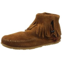 ミネトンカCONCHO FEATHER SIDE ZIP BOOT[color:520 522 527T] [正規代理店商品] 5 522 BROWN
