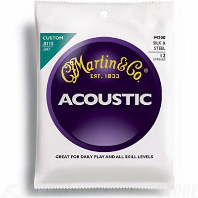 Martin アコースティックギター弦 ACOUSTIC (Silk&Steel Folk) M-200 Traditional-12String .0115-.047