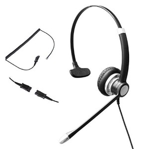 Audicom Mono Call Center Headset with Mic + Quick Disconnect Headphone for Plantronics M22 Amplifier and Cisco Unified Telephone IP Phones 7931G 7940G 7941G 7942G 7945G 7960G 7961G 7962G (700RQDRJ2A) by Audicom