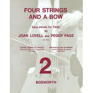 Joan Lovell/Peggy Page: Four Strings And A Bow Book 2 (Cello/Piano) / ジョーン・ロベル/ペギー・ペイジ: 4本の弦と1本の弓...