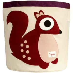 3 Sprouts Storage Bin Berry Squirrel (並行輸入)