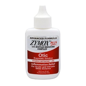 Pet King Brands Zymox Plus Otic-HC Enzymatic Ear Care Solution, 1.25-Ounce by Pet King Brands