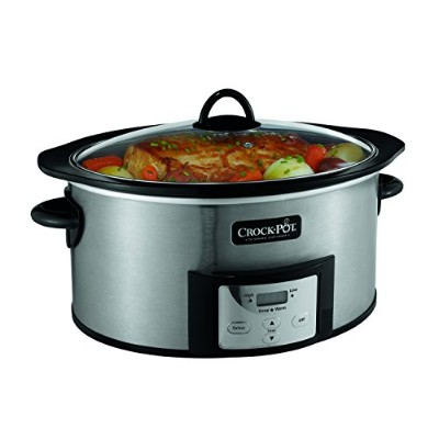 crock-pot sccpvi600-s 6クォートカウントダウンProgrammable Oval Slow Cooker with stove-top Browning、ステンレス仕上げ