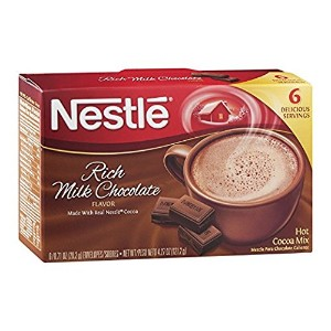 Nestle Rich Milk Chocolate Hot Cocoa Mix 6袋入り (0.71 oz).