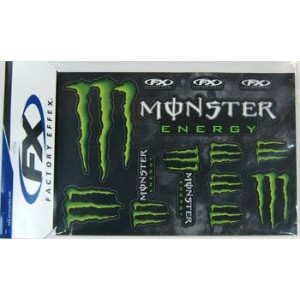 FACTORY EFFEX FXステッカーキット 4D Monster Energy FX17-68020