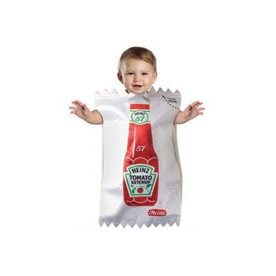 Heintz Ketchup Packet Infant Bunting Costume ハインツケチャップパケット幼児ホオジロコスチューム サイズ:Fits 3-9 Months