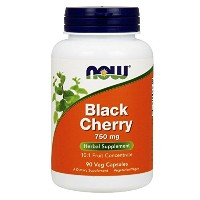 海外直送品 Now Foods BLACK CHERRY EXTRACT, 90 Vcaps 750 mg