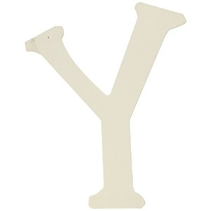 My Baby Sam Wall Hanger Letter Y, Solid White by My Baby Sam