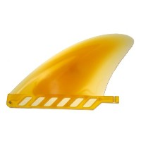 "saruSURF センターフィン Safety Flex Soft (ソフトフレックス)4.6"" for ロングボード / SUP / airSUP - Yellow"