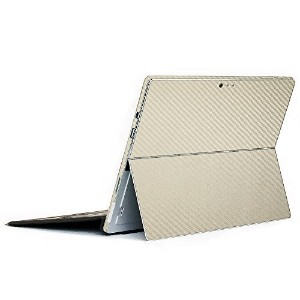 wraplus for Surface Pro / Pro 4 【ゴールドカーボン】 スキンシール 側面 背面 カバー フィルム 保護 ケース