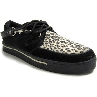 (ティ.ユー.ケイ. シューズ)T.U.K. SHOES CREEPER SNEAKER LEOPARD SUEDE x BLACK#A6142-US12/30cm