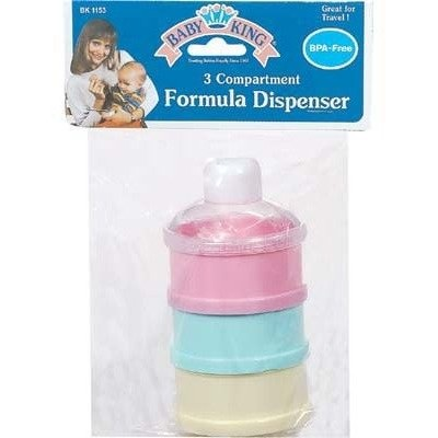 Baby King 3 Compartment Formula Dispenser (Each item is sold individually) by Baby King