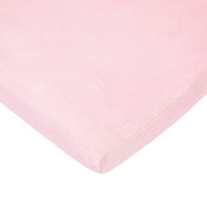 American Baby Company Heavenly Soft Chenille Fitted Pack N Play Playard Sheet, Pink, 27 x 39 by...