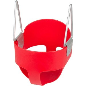 Swing Set Stuff High Back Full Bucket Toddler Infant Swing Seat - Seat Only, Red with SSS logo...