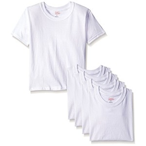 Hanes TB2145 ToDDler Boy Crew Undershirts Pack - 5, Size 2T-3T, White