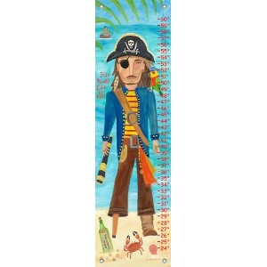 Oopsy daisy Pirate Growth Chart by Donna Ingemanson, 12 by 42 Inches by Oopsy Daisy