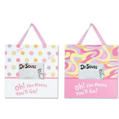 Trend Lab 2 Piece Dr.Seuss Frame Set, Oh! The Places You'll Go! Pink by Trend Lab