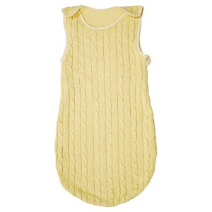 Tadpoles 0-6 Months Cable Knit Sleep Sack, Yellow by Tadpoles