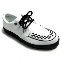 (ティ.ユー.ケイ. シューズ)T.U.K. SHOES CREEPER SNEAKER WHITE LEATHER x BLACK#A6063-US11/29cm