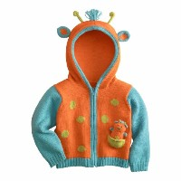 Joobles Organic Baby Cardigan Sweater - Jiffy the Giraffe (0-6 Months) by Joobles