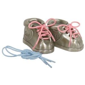Stephan Baby Pewter First Tooth and First Curl Keepsake Shoes by Stephan Baby
