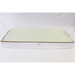 Bacati - Velor Lime/White/Chocolate Plush Changing Pad Cover by Bacati