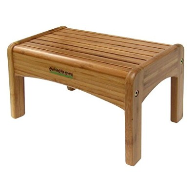 Growing Up Green Wooden Step Stool - Durable Construction - Non-Slip Surface and Feet - Lightweight...