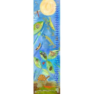 Oopsy daisy Backyard Bugs Growth Chart by Donna Ingemanson, 12 by 42 Inches by Oopsy Daisy
