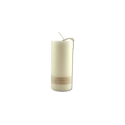 海外直送品Eco Palm Wax Candles, Unscented Pillars White 6 COUNT by Aloha Bay