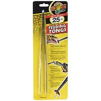 """Zoo Med Labs Stainless Steel Feeding Tongs 10"""" Feeding Reptiles More Hygienic"""