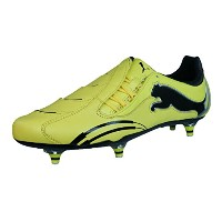 Puma Powercat 1.10 Rugby WC SG Mens Leather Rugby Boots-Yellow-29