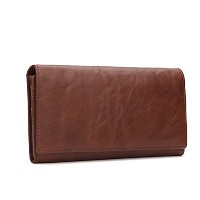 Zhhlinyuan 多機能性 Mens Luxury Wallet Large Capacity Wallet Long Purse with Photo Window and Multi...