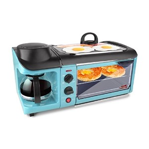 Elite EBK-1782BL Maxi-Matic 3-in-1 Deluxe Breakfast Station, Blue by Maximatic